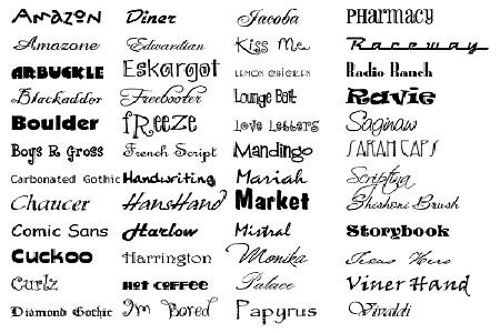 Font List