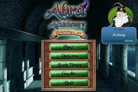 Abra Academy II Menu