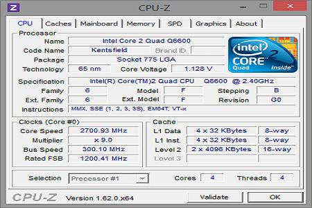 CPU Z Menu