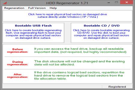 HDD Regenerator 1.7.1 Main