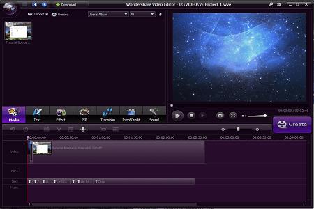 Wondershare Video Editor 3.3.1 Main