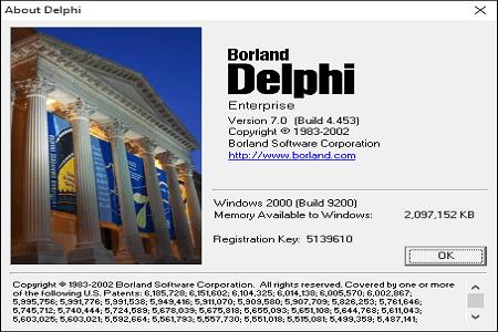 Delphi 7 Menu