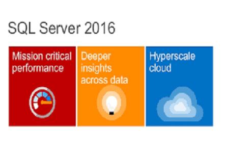 SQL Server 2016 Menu