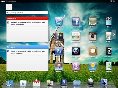 iPadian menu
