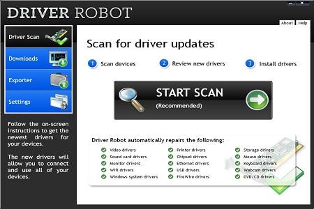 Driver robot menu