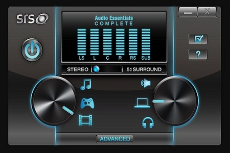 SRS Audio Essentials Menu