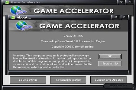 game accelerator 9 Menu