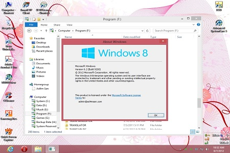 Windows 8 Enterprise Menu