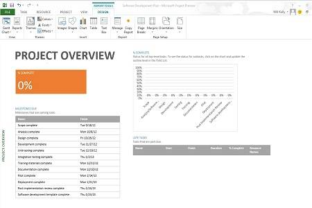 Microsoft Project Professional 2013 Menu