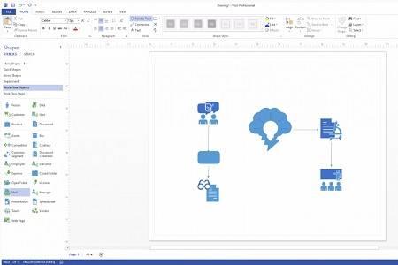 Microsoft Visio Professional 2013 Menu