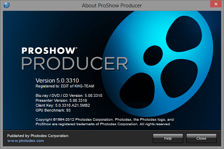 Photodex ProShow Producer 5 Main