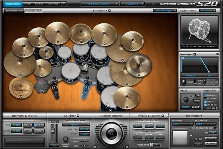 Toontrack Superior Drummer 2.0 Menu