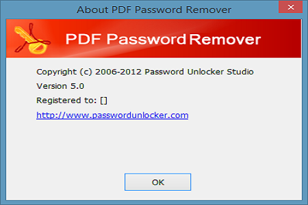 PDF Password Remover 5 Menu