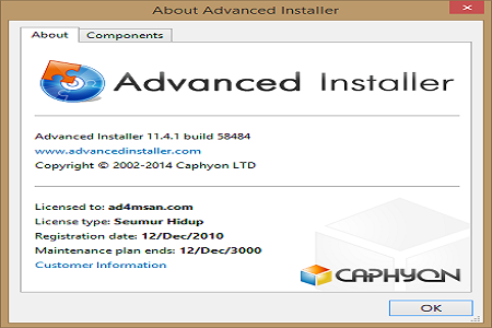 Advanced Installer 11.4.1 Menu