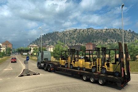 Euro Truck Simulator 2 Italia Menu