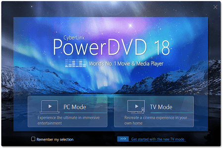 PowerDVD 18 Menu