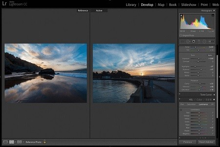 Adobe Lightroom Menu