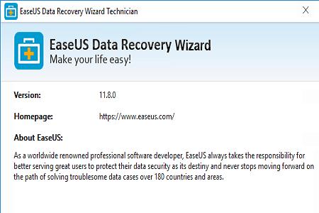 Easeus Recovery 11.8 Menu