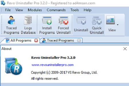 Revo 3.2.0 Menu