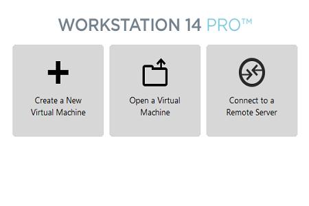 VMware 14 menu