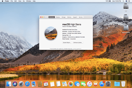 Macos High Sierra Menu
