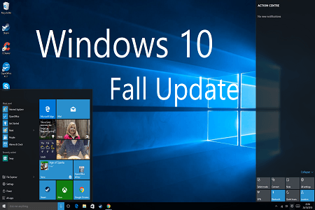 Win 10 Fall Update Menu