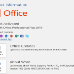 Microsoft Office Professional Plus 2019 Update April 2019!!