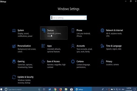 Windows 10 Rs 5 Menu