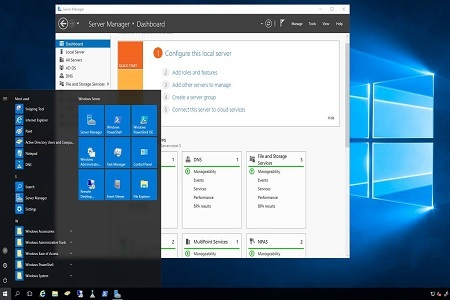 Windows Server 2019 Menu