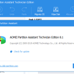 AOMEI Partition Assistant Technician Edition 8.1!!