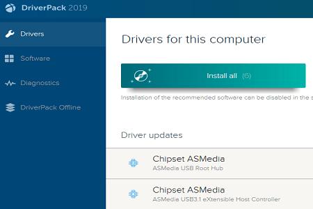 Driverpack 2019 Menu