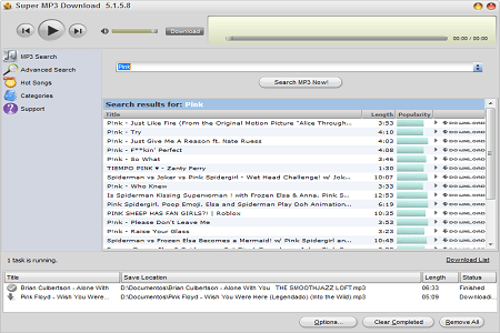 Super Mp3 Download Menu