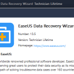 EaseUS Data Recovery Wizard 13.5 Technician!!
