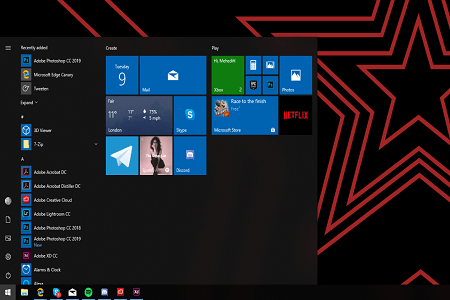 Windows 10 19h2 Menu