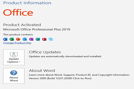 Office 2019 Update Oktober Menu 1