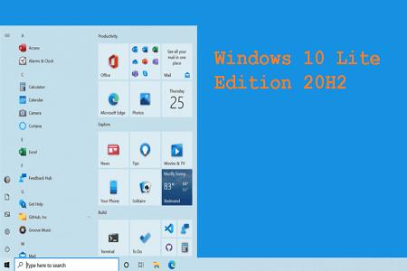 Windows 10 Lite Edition 20h2 Menu